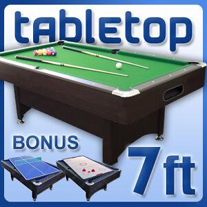7ft snooker pool billiard table air hockey table tennis ebay - Pool table table tennis ...