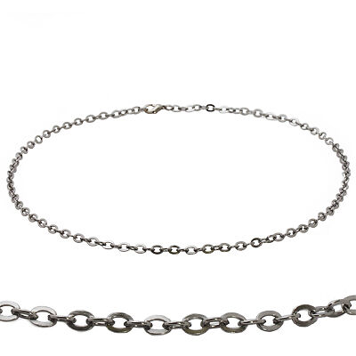"Mens Stainless Steel 20"" Linked Cable Chain Necklace"