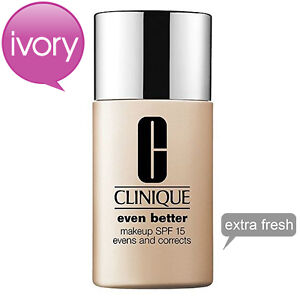 NEW Clinique Even Better Makeup SPF 15 # 03 Ivory 1 fl oz 30 ml *EXTRA FRESH