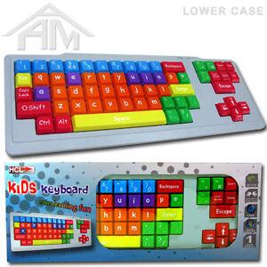 NEW-KIDS-DESKTOP-PC-KEYBOARD-LARGE-BIG-KEYS-LOWER-CASE-EXTRA-SPECIAL-NEEDS