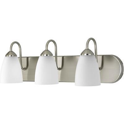 Luxury  Lighting P201809 Inspire 1 Light Bath Fixture In Brushed Nickel