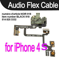 Headphone Audio Jack Volume cable For iPhone 4S 4GS