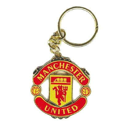Manchester United Football Club Crest Car Keyring Key Ring Official Man Utd MUFC