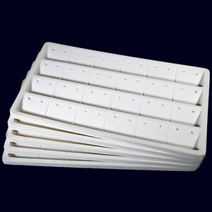 5-24-Pair-Earring-Insert-Trays-Case-Organizer-Display-White