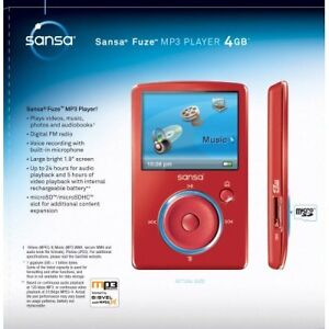 SanDisk Sansa Fuze 4 GB Video MP3 Player (Red) [CD] [Electronics]