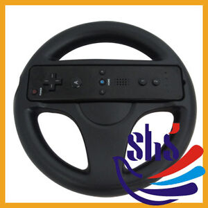 Steering Wheel for Nintendo Wii Mario Kart Racing Game Remote Controller Black