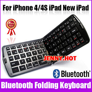 Portable Fold Mini Bluetooth Wireless Keyboard iPhone iPad Android Tablet PC