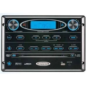 Jensen-AWM965-Stereo-DVD-CD-AM-FM-iPod-AUX-USB-MP3-WMA-Wall-Mount-Camper-RV