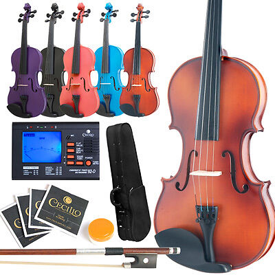 NEW SIZE 4/4 3/4 1/2 1/4 1/8 VIOLIN+EVERYTHING YOU NEED on Rummage