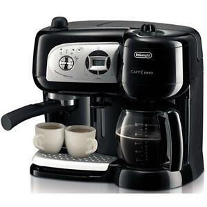 Delonghi BCO264B Cafe Nero Combo Coffee, Capuccino & Espresso Maker with timer