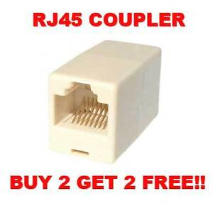 RJ45 COUPLER CONNECTOR CAT5E JOIN 2 ETHERNET CABLES