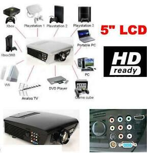 BEST NEW HD Home Theater Multimedia LCD Projector 1080P HDMI USB TV DVD WII