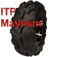 "ITP mega mayhems 27"" $530 Cananda ATV TIRE RACK"