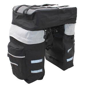 triple sacoches souples v lo fixation porte bagage sac a dos housse pluie ebay. Black Bedroom Furniture Sets. Home Design Ideas