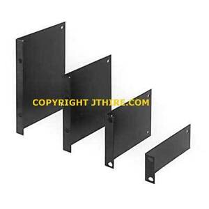 "19"" RACKMOUNTING EARS / RACK MOUNT BRACKETS, 1U, PAIR, BRAND NEW!"