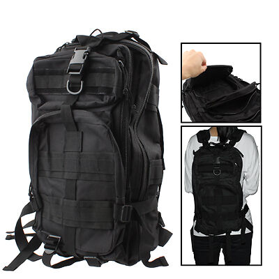 Waterproof 3P Black Tactical Backpack Bag with 3L Hydration ...