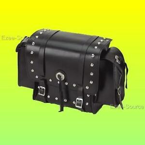 MOTORCYCLE-WATERPROOF-STUDDED-SISSY-T-BAR-TOURING-LUGGAGE-BAG-FOR-SUZUKI-SD10