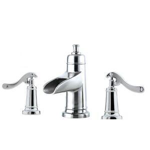 ... Pfister Polished Chrome Ashfield Water Trough Bathroom Faucet T49YP1C