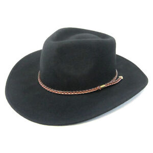 New 100% Wool Felt Men Fedora Panama Cowboy Hat Cap Black Camel