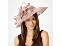 Wedding Hat fascinator races Dusty pink
