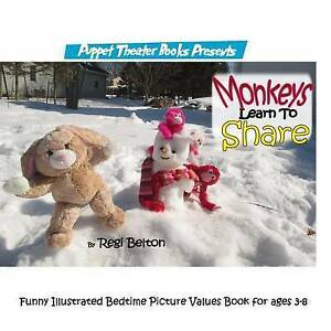 Monkeys Learn Share Puppet Theater Books Presents Funny Illus By Belton Regi