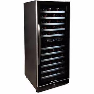 Cellier Avantgarde de 24'', noir, capacité 132 bouteilles