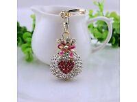 Rose bag crystal Keyring
