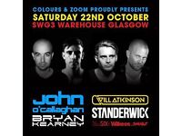 SWG3 Tickets for Zoom - Trance Megastars night 22/10/2016