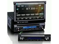 TOUCHSCREEN 1 DIN CAR STEREO CD DVD GPS SATNAV BLUETOOTH RDS DVR USB SD