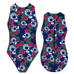 *Special Made* Turbo Waterpolo badpak roses skulls (lever...