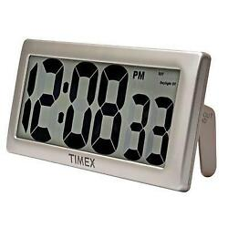 Timex 75071TA2 13.5 Large Digital Clock with 4 Digits Intelli-Time Technology