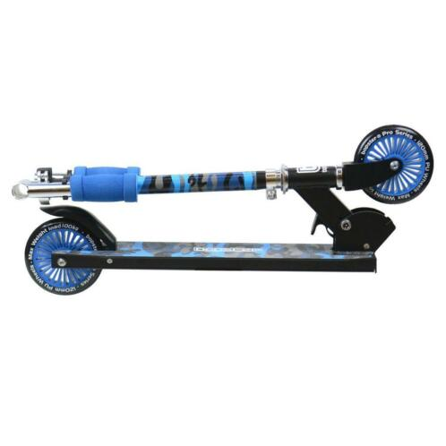 2 Wheeled Folding Kick Scooter - Blue Camo