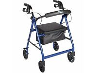 4 wheeled rollator with seat