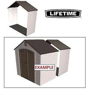 NEW* LIFETIME SHED EXTENSION KIT 6422 212042803 FOR 8' SHEDS
