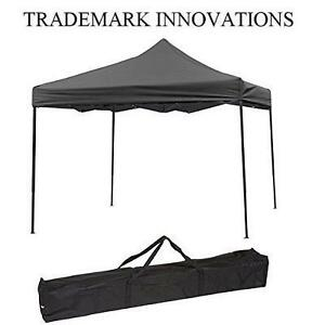 NEW* TI PORTABLE EVENT CANOPY TENT 10 x 10 FEET - BLACK - TRADEMARK INNOVATIONS 102672706