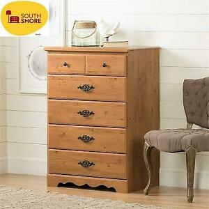 NEW SOUTH SHORE 5 DRAWER CHEST 3232035 242916997 PRAIRIE COLLECTION COUNTRY PINE FINISH