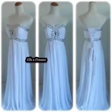 White strapless formal/beach wedding dresses size 16x2 Waterford Logan Area Preview