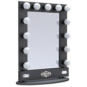 details about broadway lighted vanity desktop mirror. Black Bedroom Furniture Sets. Home Design Ideas