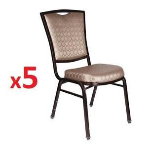 5 NEW* STACKABLE BANQUET CHAIRS - 130631493 - THESEATINGSHOPPE
