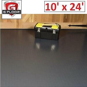 NEW GFLOOR 10x24 GARAGE FLOORING GF75CN1024SG 242803979 COVER PROTECTOR GREY COIN COMMERCIAL GRADE VINYL