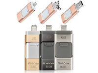 MASSIVE 64GB MEMORY STICK FOR IPHONE 5s/6/6s/Plus | 3 IN 1 FLASH DRIVE USB