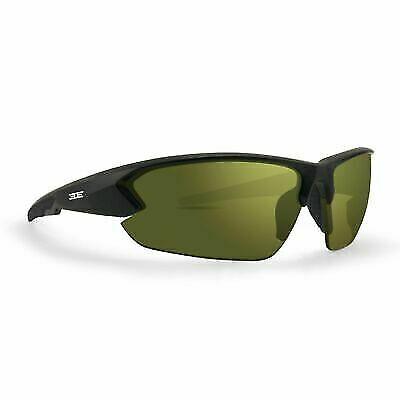 Epoch 4 Sport Golf Sunglasses Black Frame High Clarity Green Shatterproof (4065 Sunglasses)
