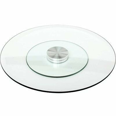 Large Glass Rotating Lazy Susan Turntable Serving Plate
