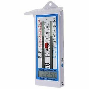 Large Digital Max Min Thermometer in Green Indoor Outdoor Garden Greenhouse