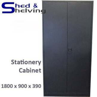 Metal Lockable Stationery Cabinet Garage Office Tool Storage from