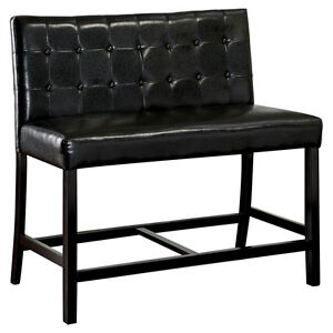 Milli Leatherette Counter Height Bench