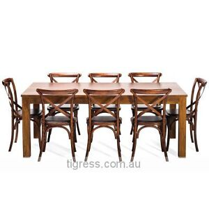 NEW Mirage 9 Pce Hardwood Dining Table with Zara Chairs Package Castle Hill The Hills District Preview