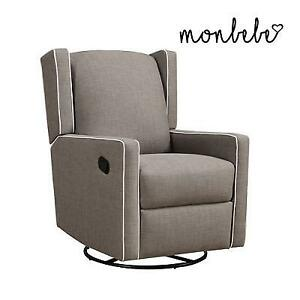 NEW SWIVEL RECLINING CHAIR DA6899TS 183225374 TAUPE BABY RELAX MONBEBE