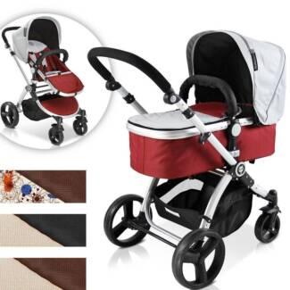 Brand New 2in1 Aluminium Baby Pram Baby Stroller Carry Cot Jogger