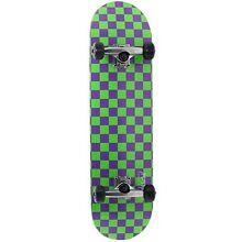 speed demon skateboard green purple checkerboard Kilsyth Yarra Ranges Preview